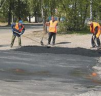 Ремонт дорог в Троицком и Новомосковском округах